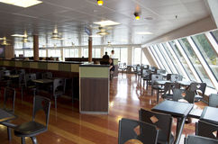 Dining room in ferry ship Royalty Free Stock Images