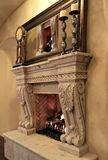 Dining Room Fireplace stock photo