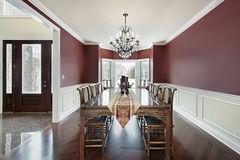 Dining room with foyer view Royalty Free Stock Image