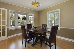 Dining room with french door Stock Photography