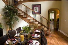 Dining room and hallway Royalty Free Stock Image