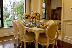 The dining-room in the home