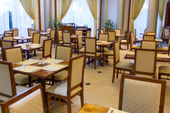 Dining room. Of the hotel Stock Photo