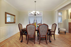 Free Dining Room In Luxury Home Stock Photography - 12627232