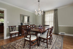 Free Dining Room In Luxury Home Stock Photo - 19321890