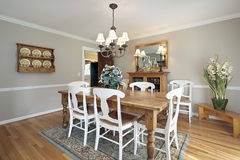 Free Dining Room In Luxury Home Stock Image - 9786251