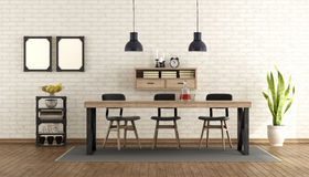 Dining room in industrial style Stock Image