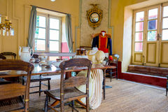 Dining room inside Museum Quinta of Simon Bolivar Royalty Free Stock Image