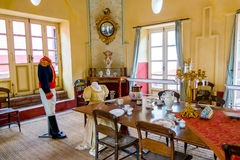Dining room inside Museum Quinta of Simon Bolivar Royalty Free Stock Photography