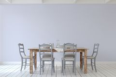 Dining-room interior.3d render. Royalty Free Stock Photo
