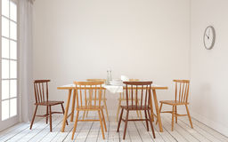 Dining-room interior.3d render. Stock Images