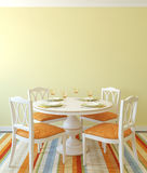 Dining-room interior. 3d rendering. Royalty Free Stock Photography