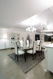 Dining room. Interior of a dining room. Exclusive design Stock Photos