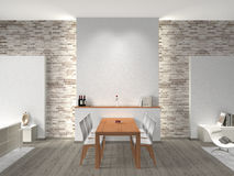 Dining room interior stock illustration