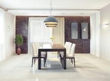 Dining room interior. Modern dining room interior. 3d concept Stock Photo