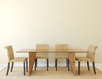Dining-room interior. Royalty Free Stock Photos