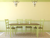 Dining-room interior. Provence. 3d render Royalty Free Stock Image