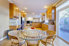 Dining room with kitchen Royalty Free Stock Photos