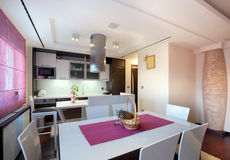Dining room and kitchen Royalty Free Stock Image