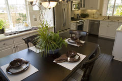 Dining room and kitchen. Stock Photography
