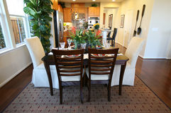 Dining Room and Kitchen Interior royalty free stock image