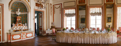 Dining Room in Kuskovo Royalty Free Stock Images