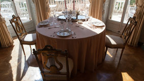 Dining room in a luxurious villa, France Stock Images