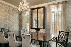 Dining room in luxury home Stock Image