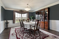 Dining room in luxury home Stock Photos