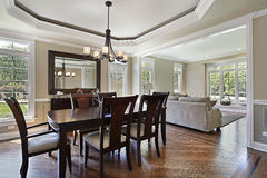Dining room in luxury home Royalty Free Stock Images
