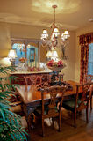 Dining room in moderate sized home in southwest Royalty Free Stock Photo