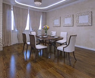 Dining room in modern style Stock Images