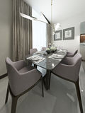 Dining room modern style Stock Image
