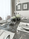 Dining room modern style Royalty Free Stock Image