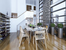Dining room modern style Stock Photos