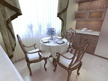 Dining room neoclassicism style Royalty Free Stock Images