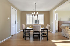 Dining room in new construction home Royalty Free Stock Images