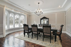 Dining room in new construction home Stock Images