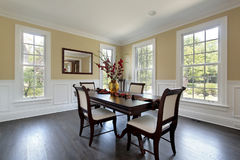 Dining room in new construction home Royalty Free Stock Image