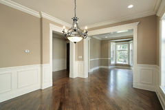 Dining room in new construction home Stock Photography