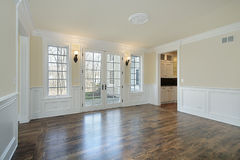 Dining room in new construction home Royalty Free Stock Photos