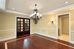 Dining room in new construction home Stock Image