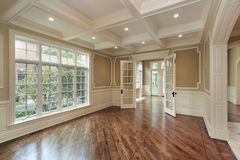 Dining room in new construction home Royalty Free Stock Photography