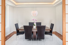 Dining Room in New Home Royalty Free Stock Photos