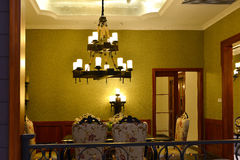 Dining room at night Royalty Free Stock Photo