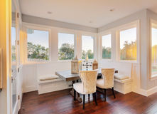 Dining Room and nook in new home. Beautiful eating area in new house royalty free stock photography
