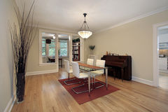 Dining room with office area Royalty Free Stock Image