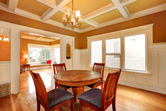Dining room in an old house Stock Photography