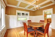 Dining room in an old house Stock Photos