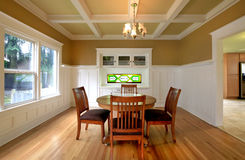 Dining room in an old house Stock Image